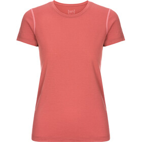super.natural Base 175 T-shirt Dames, tandoori/georgia peach